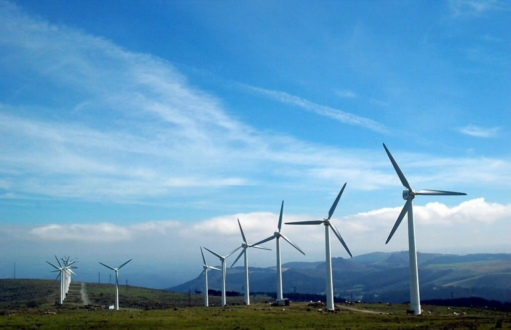 cape ortegal, galicia, windmills